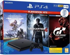 Sony PlayStation 4 Slim 1TB + Gran Turismo Sport + Horizon: Zero Dawn + Uncharted 4