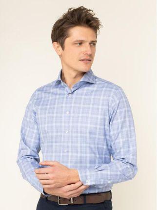 MICHAELIS Extra długa niebieska koszula Michaelis z  yzSgU