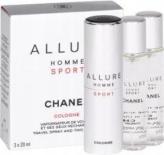 Chanel Allure Homme Sport Cologne woda kolońska Twist and Spray 3x20ml