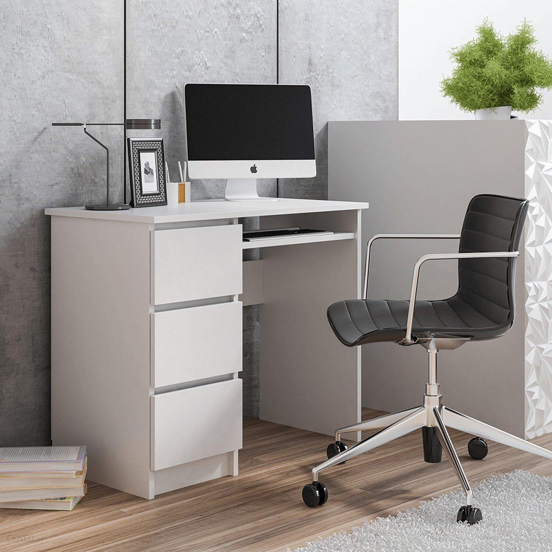 Biurko białe komputerowe nowoczesne Cina