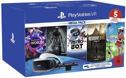 Sony Playstation PS4 VR Mega Pack GOGLE KAMERA + 5 GIER