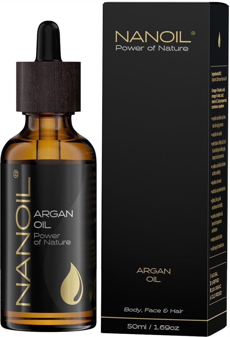 Nanoil olejek arganowy do pielęgnacji włosów i ciała 50ml