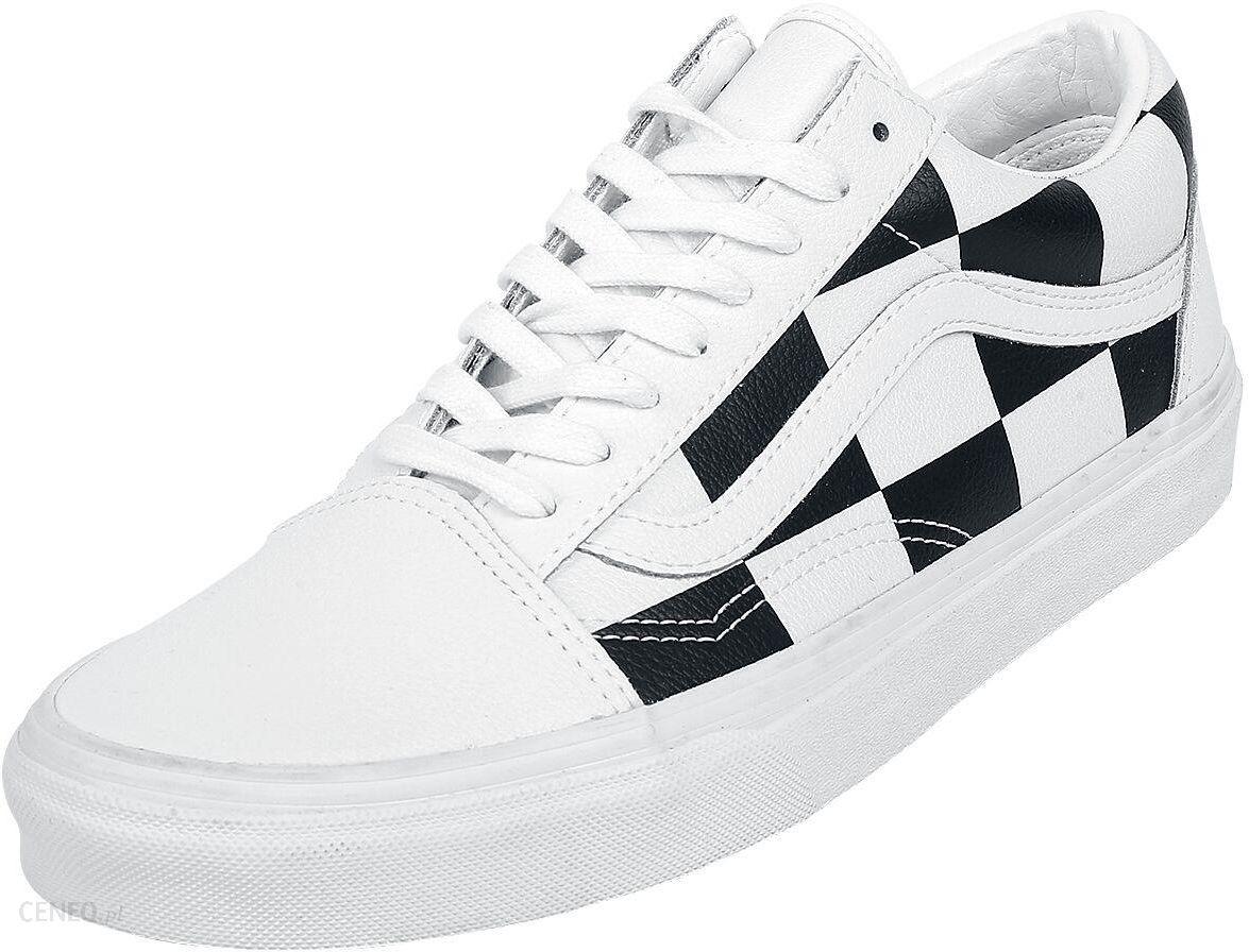Vans Old Skool Leather Check Buty sportowe białyczarny Ceny i opinie Ceneo.pl