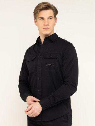 Czarna koszula męska w różowy paisley szyta na miarę 80  QoMLc