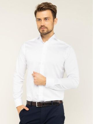 Risardi Koszula męska długi rękaw rl27 biała Ceny i