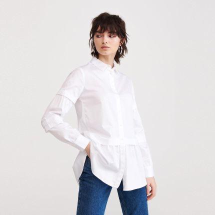Reserved Koszula z ozdobnymi guzikami Biały Ceny i  T2Lyu