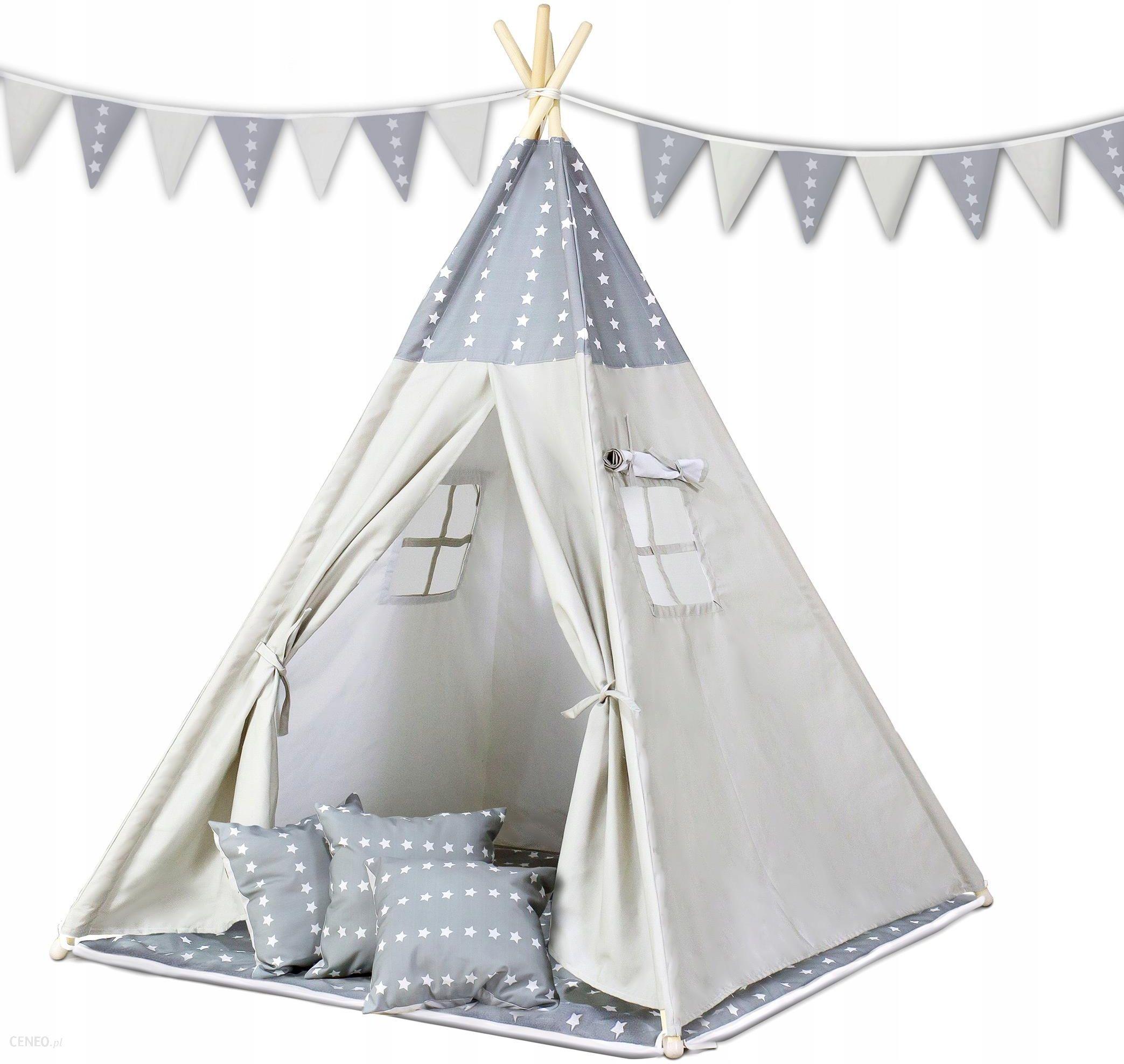 LULANDO TIPI namiot do zabawy dla dzieci, Szary Szare w Gwiazdki