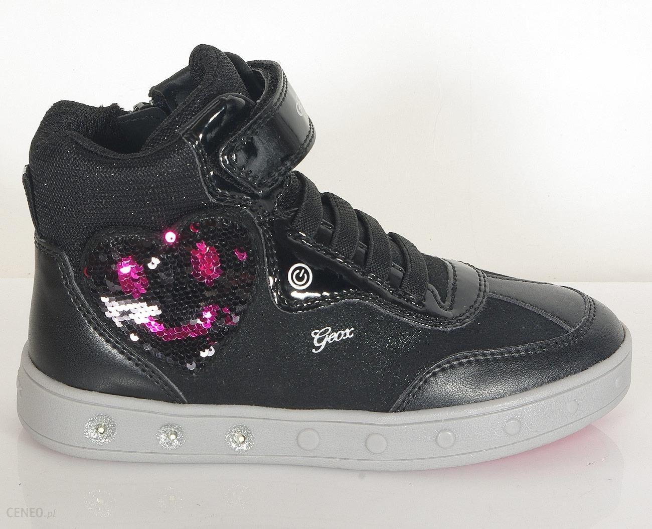 Geox Skylin sneakers girl blackfuchsia