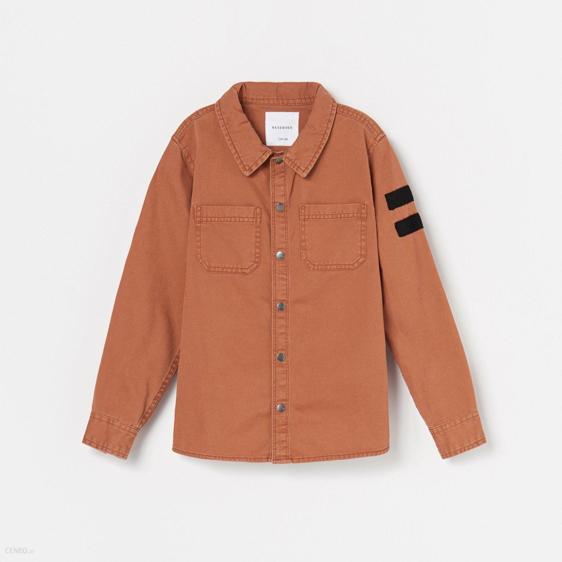 Reserved Jeansowa koszula z zapięciem na zatrzaski  r0PbN