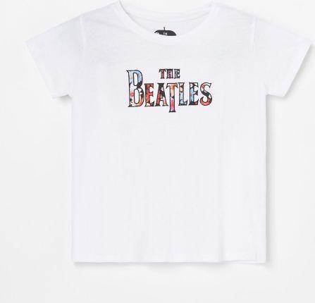 Reserved T shirt z nadrukiem w palmy Zielony Ceny i
