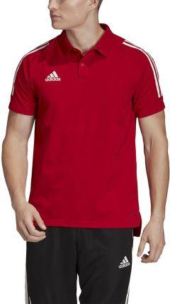 Koszulka męska adidas Condivo 20 Polo czerwono-biała ED9235 - Ceny i opinie T-shirty i koszulki męskie IJLZ
