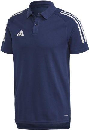 Koszulka męska adidas Condivo 20 Polo granatowo-biała ED9245 - Ceny i opinie T-shirty i koszulki męskie OYKT