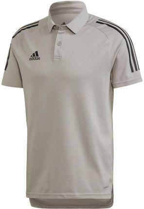 Koszulka męska adidas Condivo 20 Polo szaro-czarna ED9247 - Ceny i opinie T-shirty i koszulki męskie XIUS