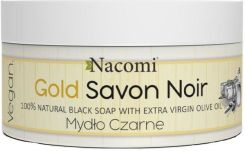 Nacomi 100% Naturalne Mydło Czarne Z Oliwą Savon Noir Natural Black Soap With Extra Virgin Olive Oil 125 G
