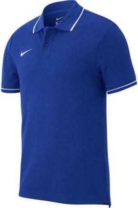Koszulka Nike Polo Team Club 19 AJ1502 463 niebieska Rozmiar odzieży: S - Ceny i opinie T-shirty i koszulki męskie WEHU