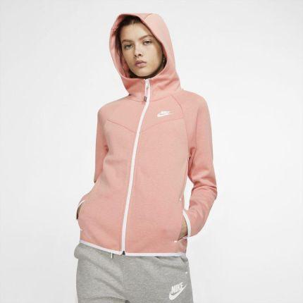 Damska rozpinana bluza z kapturem i logo Nike Sportswear Szary Ceny i opinie Ceneo.pl