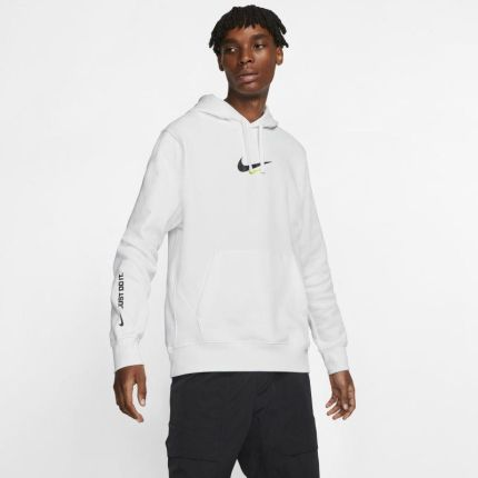 Męska bluza z kapturem NBA Miami Heat Nike Biel Ceny i