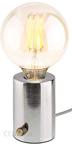 AMAZON GADGY LAMPA STOŁOWA Z MOŻLIWOŚCIĄ ŚCIEMNIANIA , SREBRNA RETRO VINTAGE NOWOCZESNE I INDUSTRIALNE WZORNICTWO ŻARÓWKĄ LED EDISON Ceneo.pl