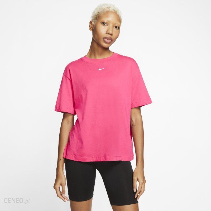 Nike Damska Koszulka Z Krótkim Rękawem Sportswear Essentials Różowy Ceny i opinie Ceneo.pl