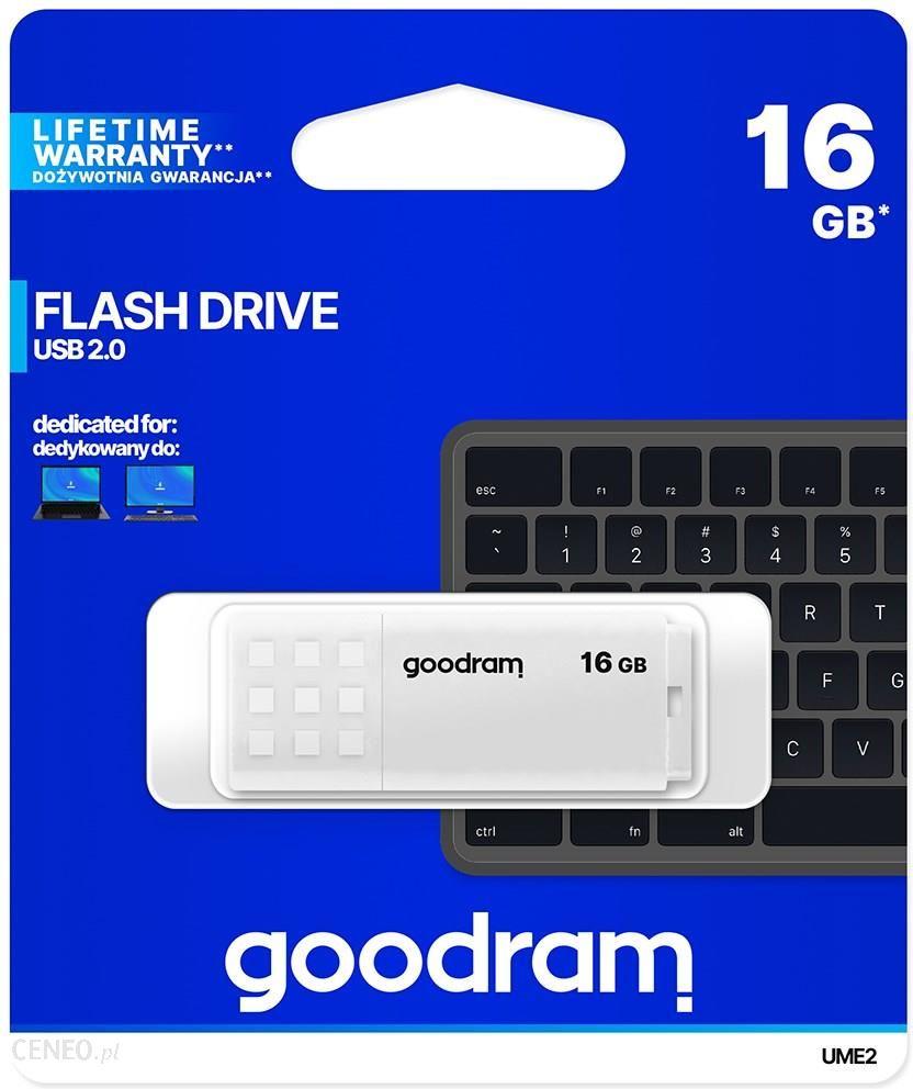 Goodram UME2 16GB USB 2.0 Biały (UME20160W0R11)