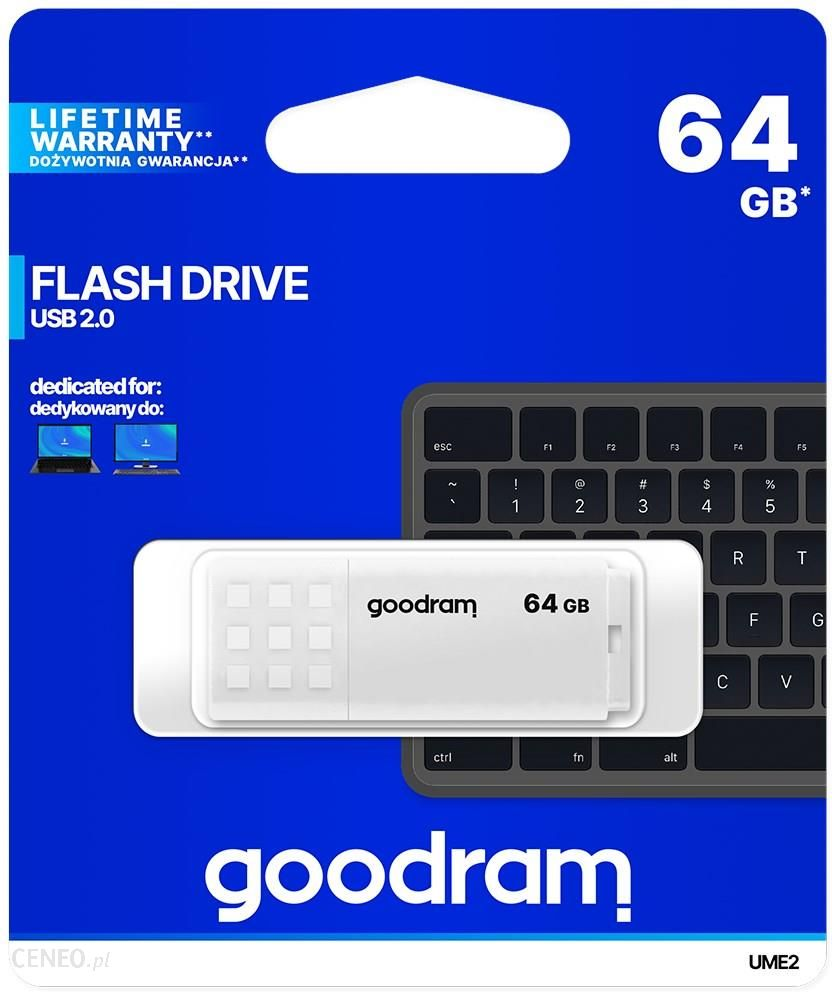 Goodram UME2 64GB USB 2.0 Biały (UME20640W0R11)