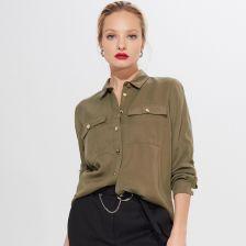 Koszula z lyocellu Tencel™ Eco Aware Khaki