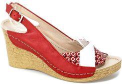 Sandały Euro Moda Tych. 608 Beż Koza Złoty Deszczyk
