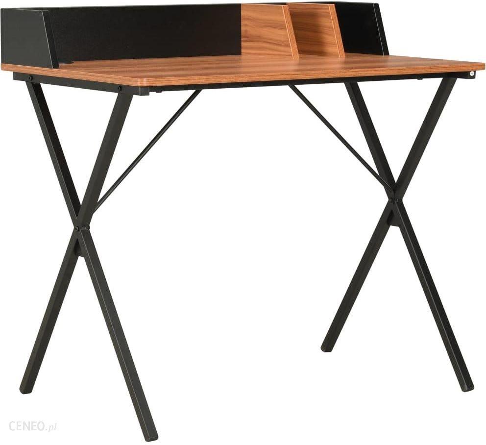 """Vidaxl"" stalas juodai rudas 80x50x84 cm"