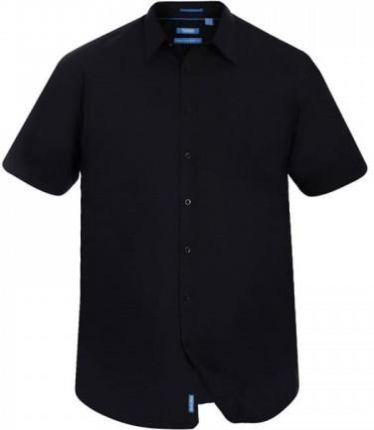 Koszula męska elegancka z krótkim rękawem czarna Bolf 2926 A