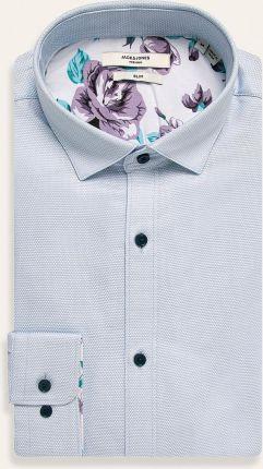 Błękitna koszula VAN THORN z tkaniny typu oksford z włoskim  XGEMR