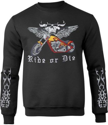bluza rozpinana męska czarna motocros