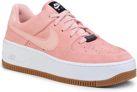 nike air force 1 pudrowo różowe