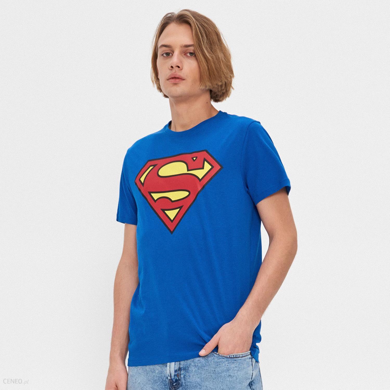 T shirt Superman Granatowy Niebieskie t shirty damskie