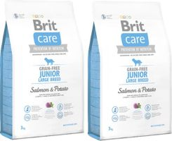 Brit Care Junior Large Breed Grain Free Salmon & Potato Łosoś Ziemniak 2X3Kg