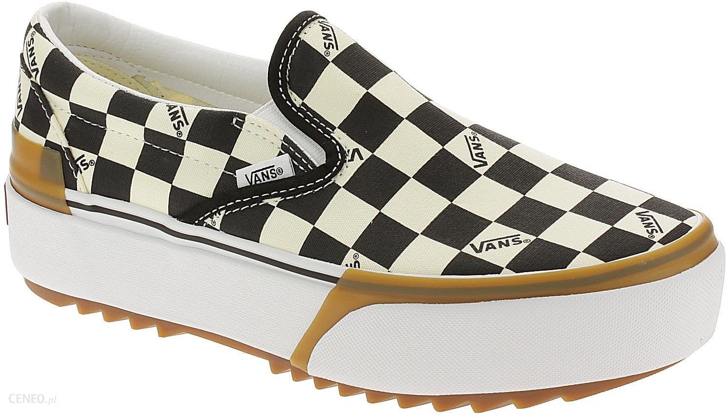 Buty Vans Classic Slip On Stacked CheckerboardMultiTrue White 40 Ceny i opinie Ceneo.pl