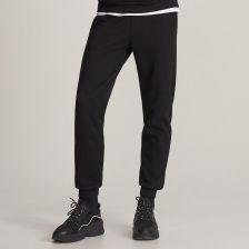 Reserved Spodnie dresowe zapinane na guziki Czarny