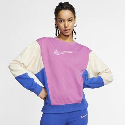 Nike Sportswear GYM VINTAGE Bluza rozpinana fuchsia zalando rozowy bawełna