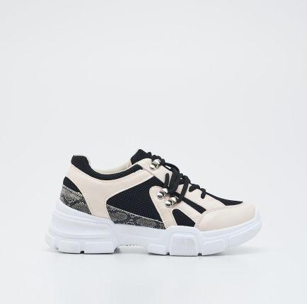 Buty sportowe z materiału z elastyczną cholewką Ceny i