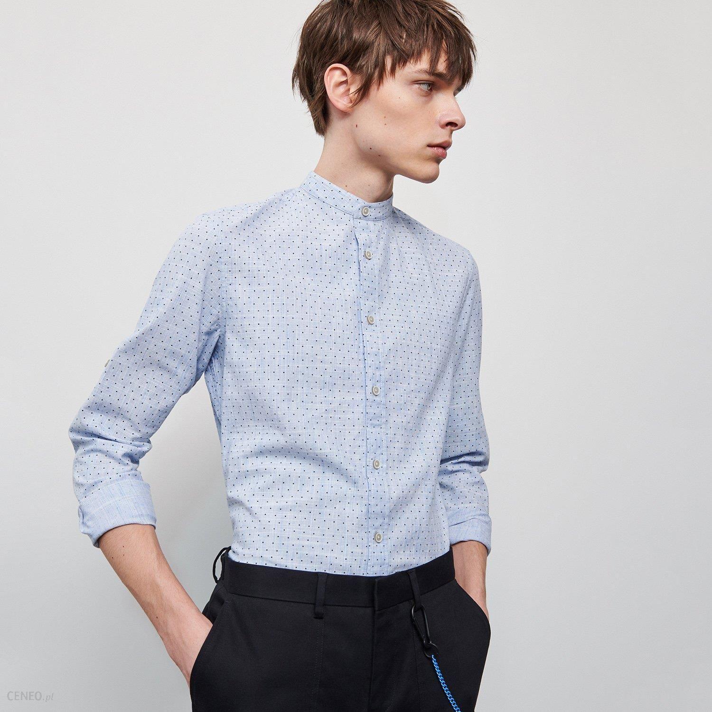 Reserved Koszula ze stójką Niebieski Ceny i opinie  sXcpo