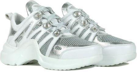 Sneakersy Carinii BiałeSrebrne B3909 (CI217 b) Ceny i