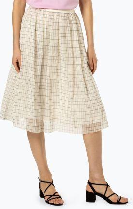 Dursi Dopasowana spódnica elegancka Bellis beżowa