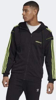 Męska bluza ESSENTIALS BASE FULL ZIP HOOD SLIGHTLY BRUSHED BK3718 Adidas Performance