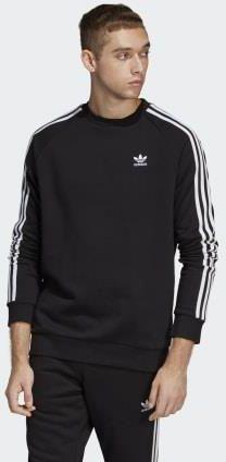 Adidas 3 Stripes Crew, bluza męska, czarna, Rozmiar XXL
