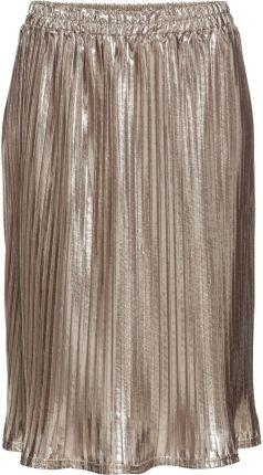 Spódnica satynowa plisowana złoty 46 3XL 931637 Ceny i