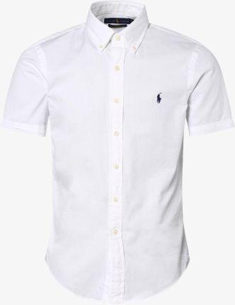 MICHAELIS Elegancka biała koszula ze splotem oxford  HLV99
