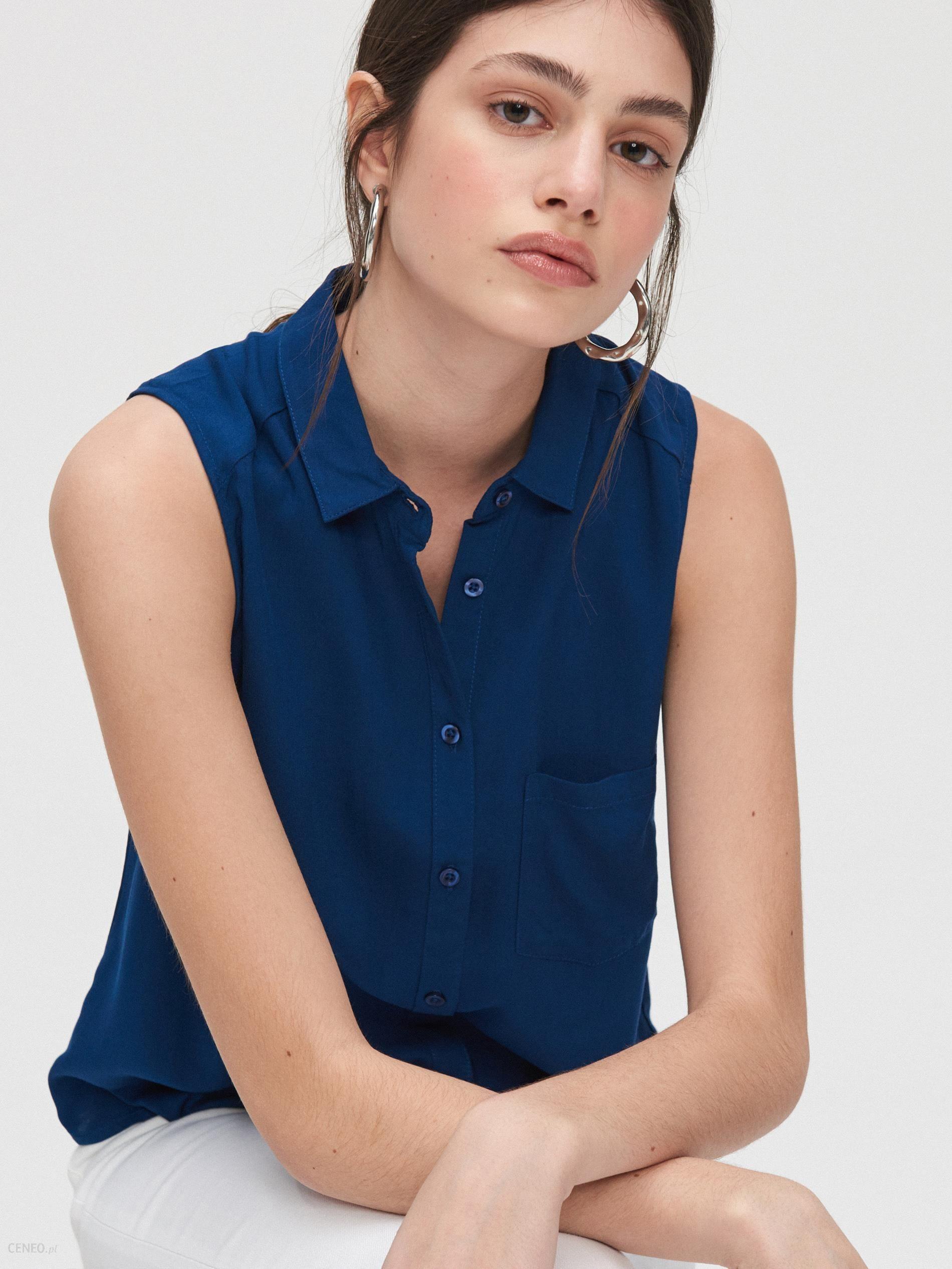 Cropp Koszula bez rękawów Granatowy Ceny i opinie  hggkW