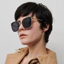 Okulary damskie Glam przeciwsłoneczne lustrzane kocie oczy