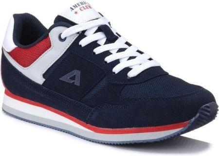 Granatowe buty sportowe męskie na rzep American Club