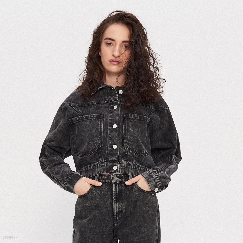 kurtka jeansowa czarna damska oversize