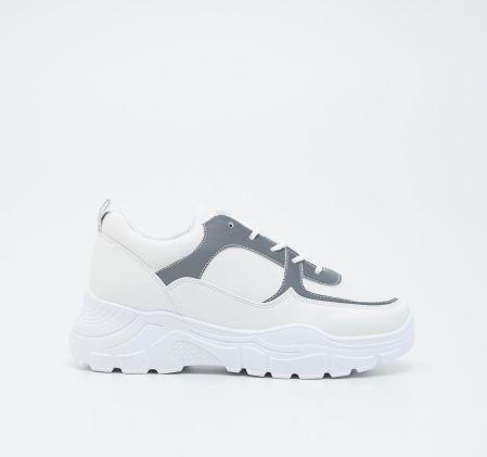 Sinsay Sportowe buty z napisem Wielobarwny Ceny i